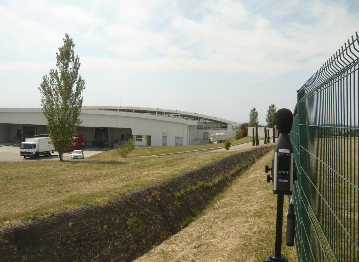 Figure : Campagne ICPE réglementaire pour un site industriel - Mesure acoustique sur site
