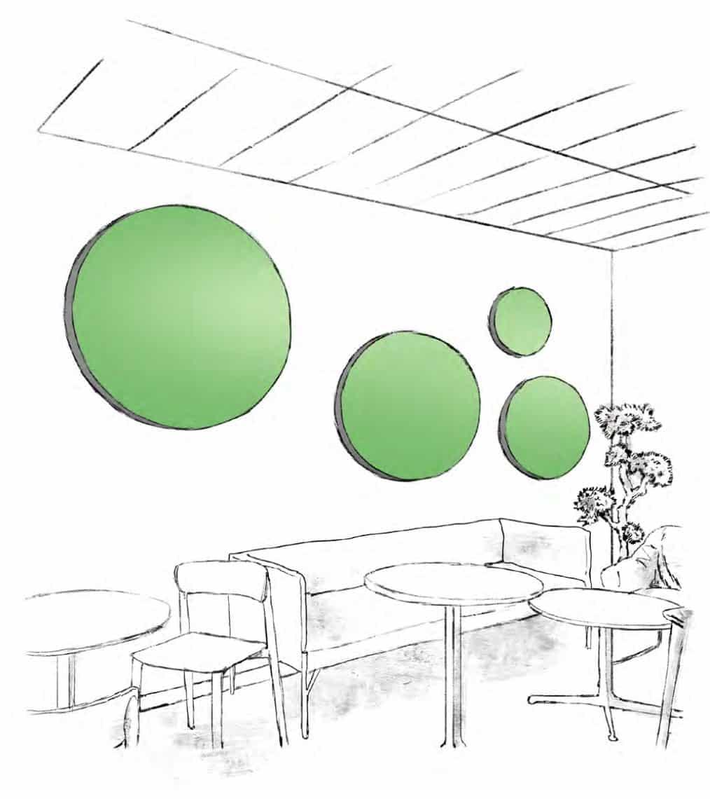 Panneau acoustique décoratif - Cirka tableau