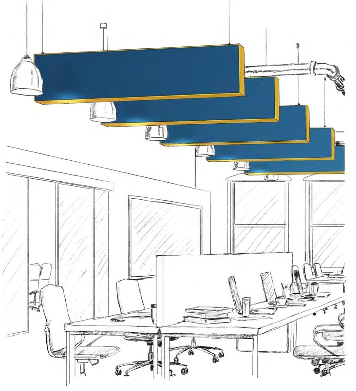 Panneau acoustique plafond - PULSEA Suspendu plafond