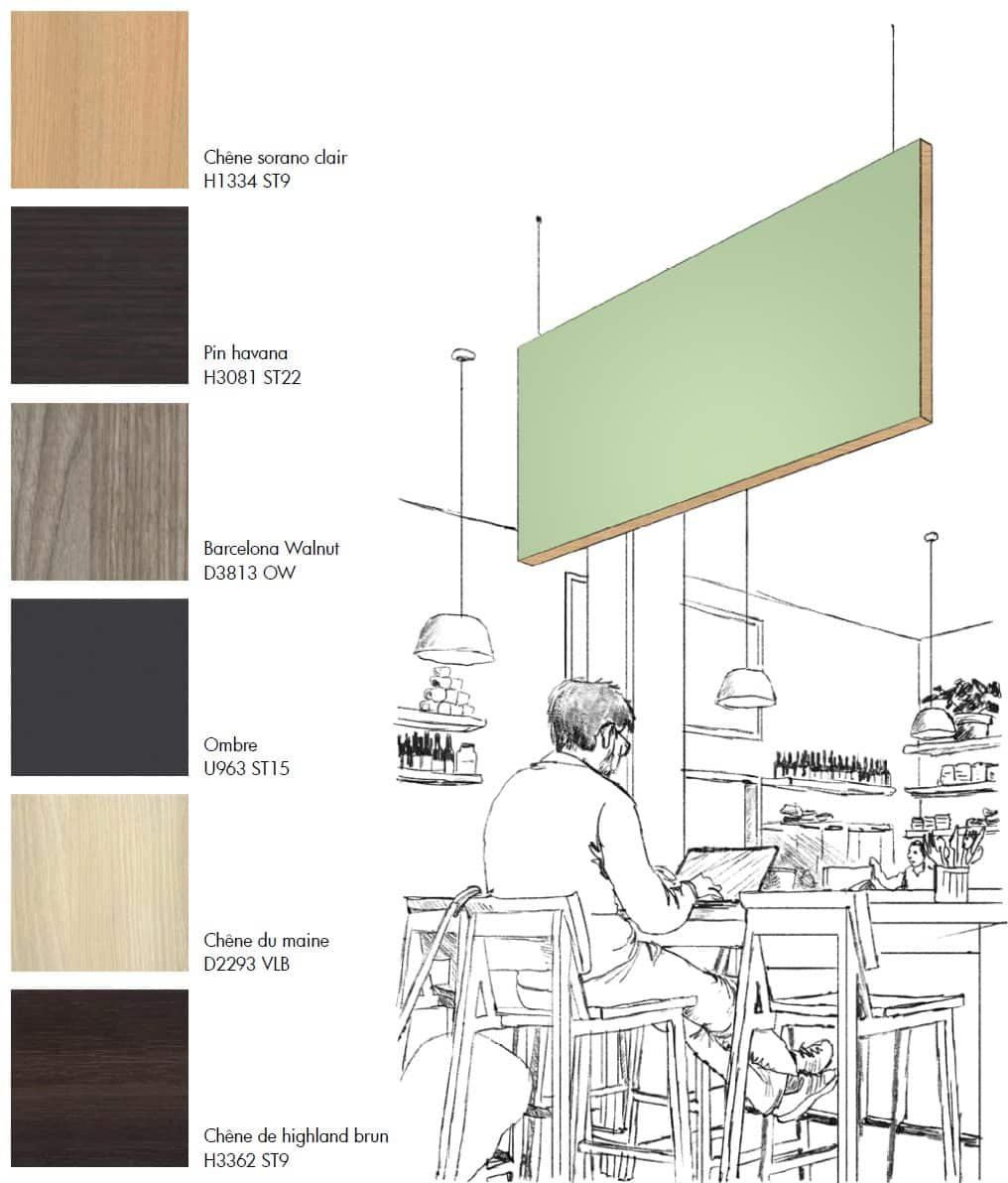 Panneau acoustique plafond - Sequoia Suspendu